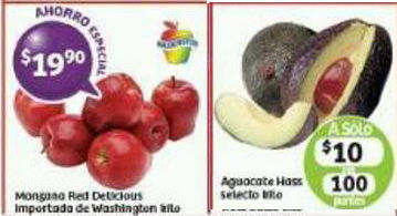 Frutas y verduras Soriana Enero
