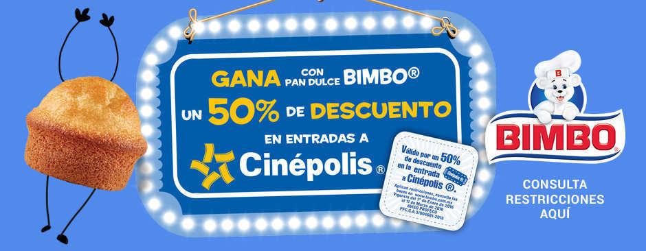Promoción Gana Con Pan Dulce Bimbo Entradas a Cinépolis