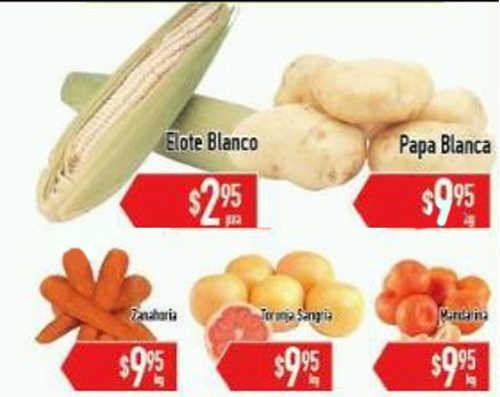 HEB frutas y verduras enero