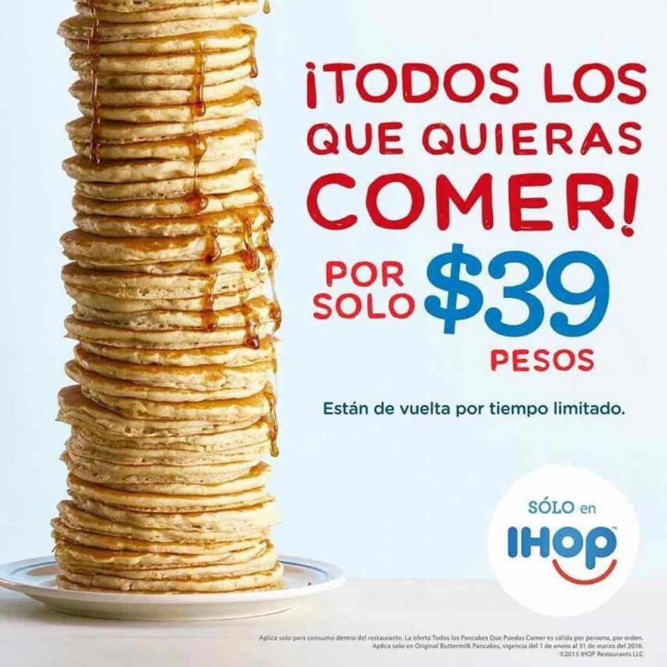 IHOP: todos los hotcakes que quieras comer por $39