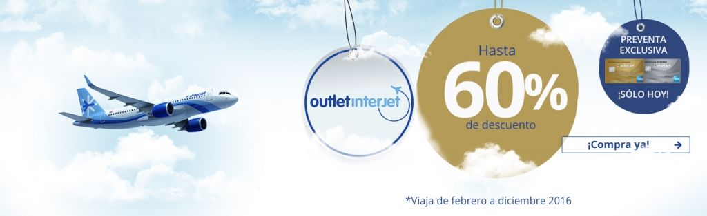 Outlet Interjet descuentos preventa Club Interjet