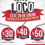 Jueves Loco Cinemex Boletos Baratos