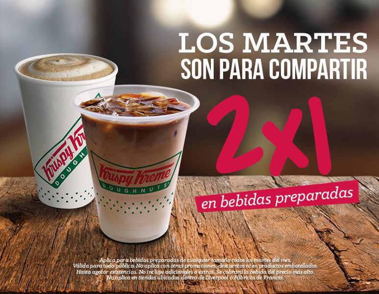 Krispy Kreme 2×1 en bebidas preparadas