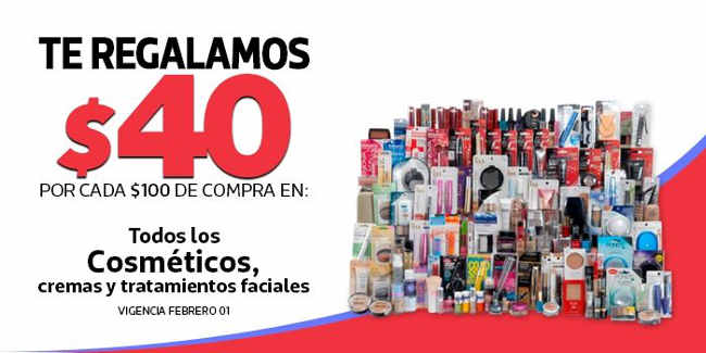 Comercial Mexicana descuentos en cosméticos, cremas y más