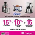 Liverpool Adiós a las Mercancías descuento en electrodomésticos Oster