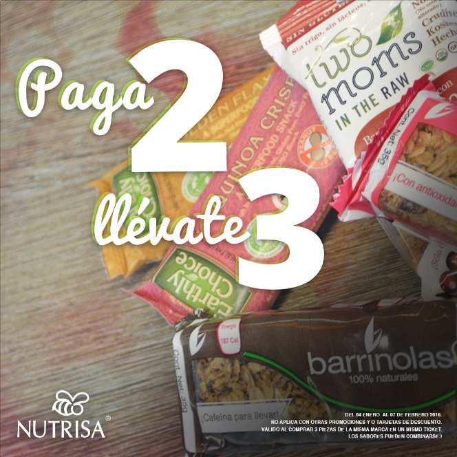 Nutrisa 3×2 en barras nutritivas