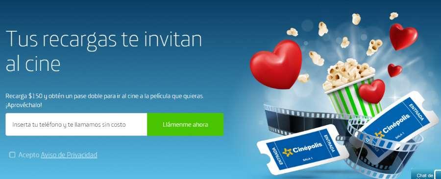 Promoción Movistar boletos de Cinépolis gratis