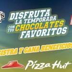 Promoción Pizza Hut Snickers y M&Ms