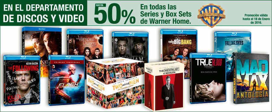 Sears Descuentos en Series y Box Sets de Warner