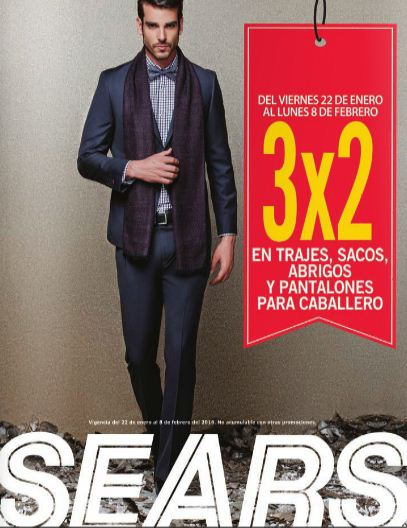 Sears sacos, trajes, abrigos y pantalones de caballero