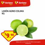 Frutas y verduras Soriana enero 6
