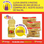 Soriana gratis pastas Soriana comprando aceite Oleico