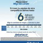 Planes Telcel Max Sin Límite 6 meses Gratis Portabilidad