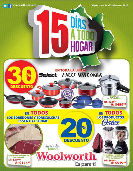 Woolworth folleto de promociones enero 2016