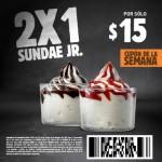 Burger King cupón de 2x1 en sundae jr
