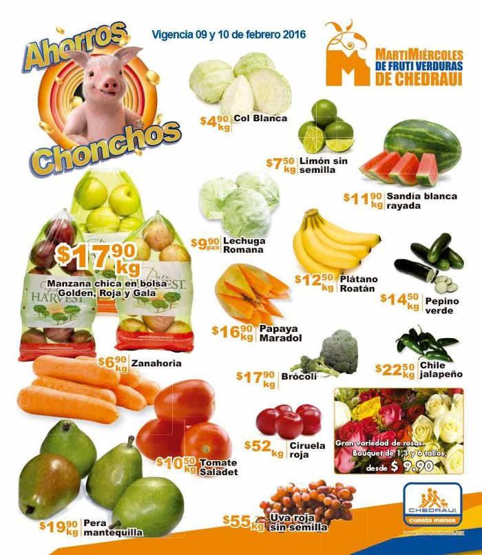 Frutas y verduras Chedraui