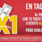 Cinemex 2×1 en boletos al pagar con tarjetas Mastercard