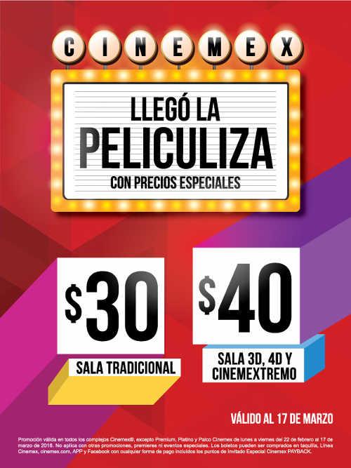 Promoci n peliculiza cinemex boletos a precios especiales for Cines arenys precios