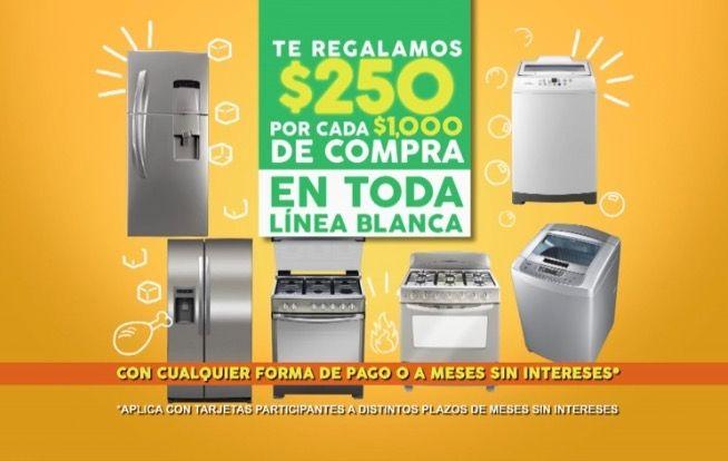 Comercial Mexicana descuentos en línea blanca