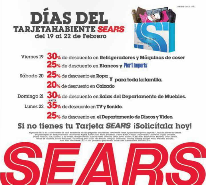b74282bd0 Días del tarjetahabiente Sears