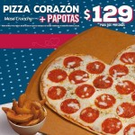 Domino's Pizza Pizza Corazón mas Papotas