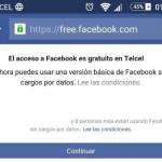 Facebook Gratis en mi Celular