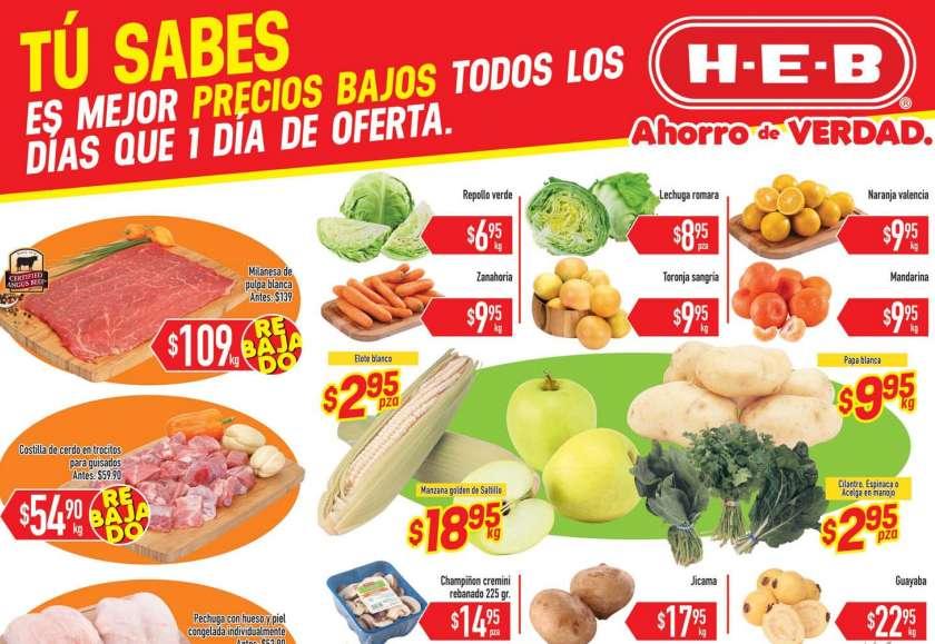 HEB: Folleto de Frutas y Verduras del 2 al 4 de Febrero