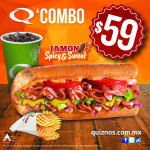 Quiznos Combo jamón Spicy & Sweet