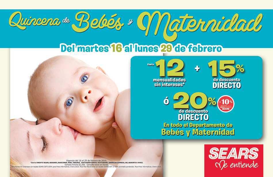 3889b15c3 Sears  quincena del bebé y maternidad del 16 al 29 de febrero