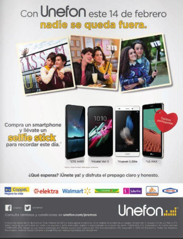 Selfie Stick Gratis Comprando Smartphone en Unefón