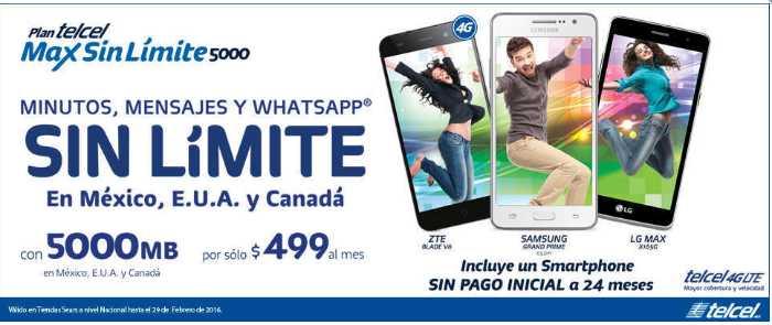 Telcel equipos sin pago Inicial en Telcel Max sin límites 5000