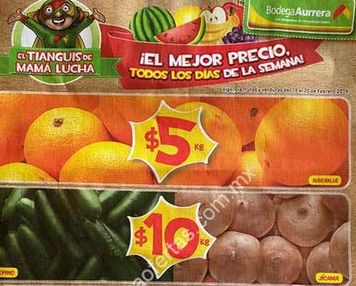 Bodega Aurrerá frutas y verduras