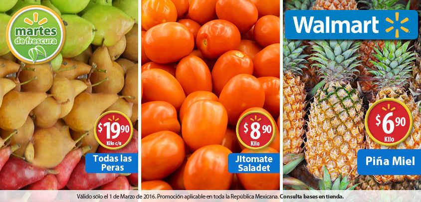 Walmart: martes de frescura frutas y verduras 1 de marzo