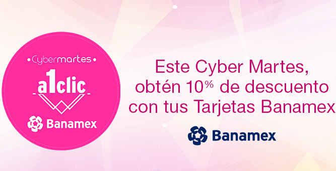 Cyber martes banamex en Amazon