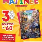 Cinemex Funciones Matinée de Zootopia