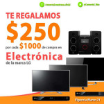 Comercial Mexicana descuentos en electrónica LG