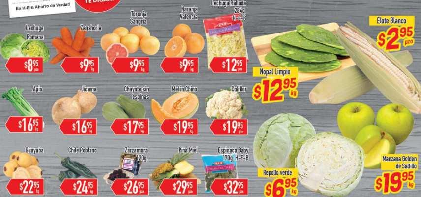 Frutas y verduras HEB