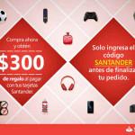Amazon cupón tarjetas Santander
