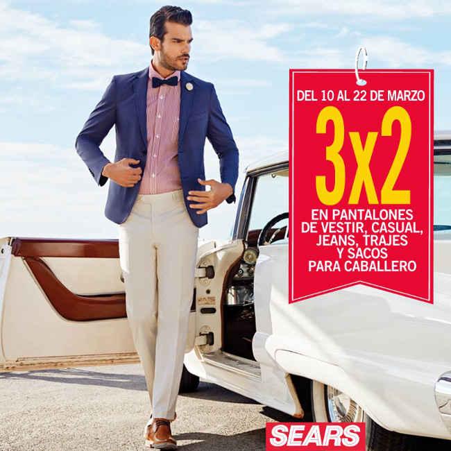 4f2e9fec5de8 Sears: 3x2 en pantalones de vestir, casual, jeans, trajes y sacos ...
