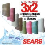Sears 3x2 en toallas y ropa de playa