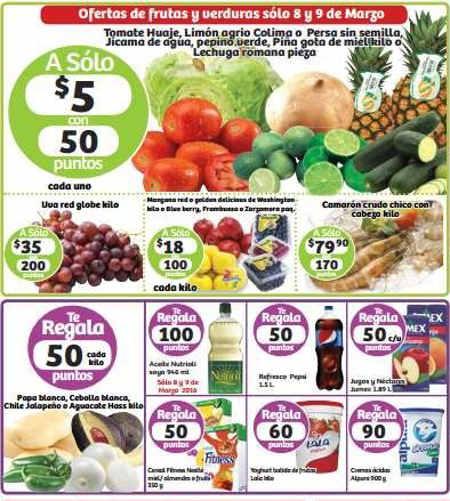 Soriana: frutas y verduras 8 y 9 de marzo