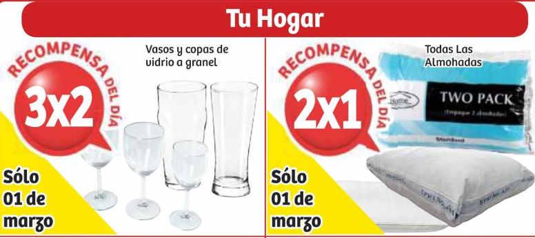 Soriana: 3×2 en vasos y copas, 2×1 en almohadas