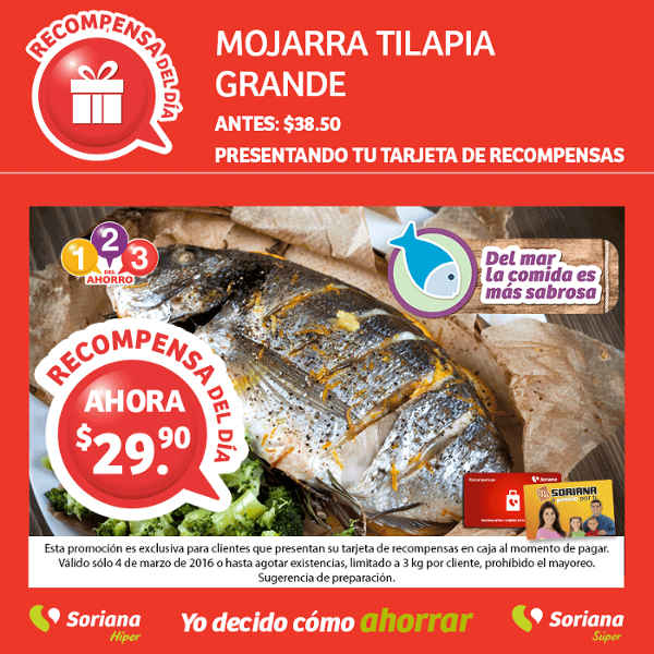 Soriana: ofertas tarjeta lealtad recompensa del 4 al 6 de marzo