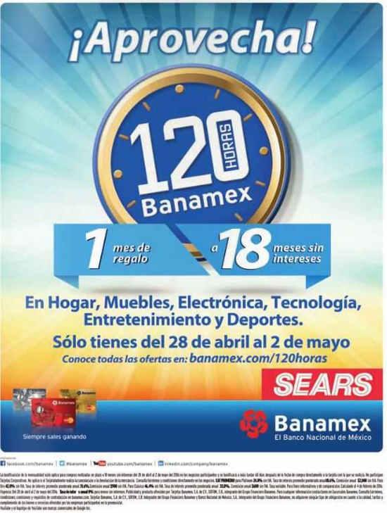 120 Horas Banamex en Sears