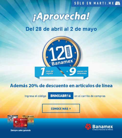 120 Horas Banamex 2016 en Marti