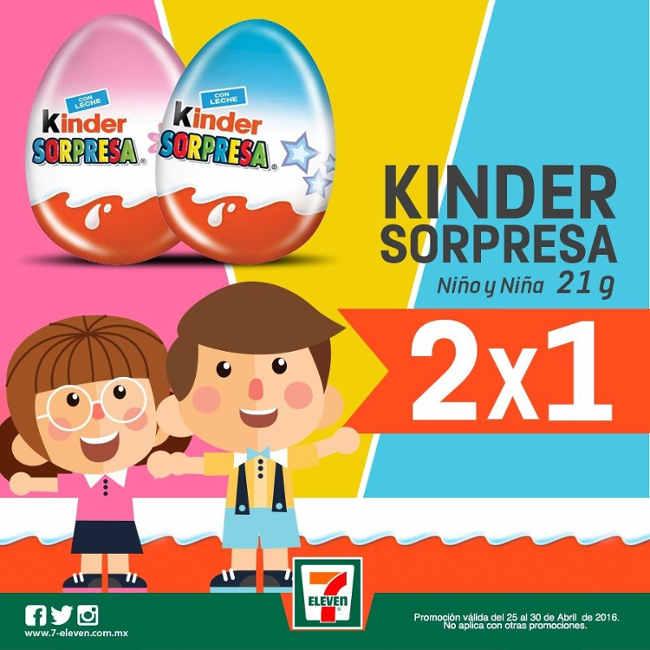 7-Eleven Huevo Kinder Sorpresa Gratis