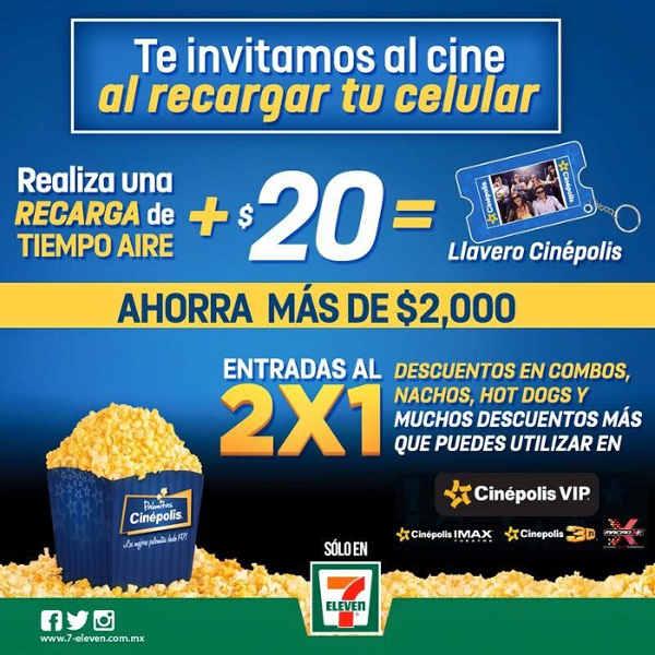 Promoción 7-Eleven Cinépolis Llavero Cinépolis