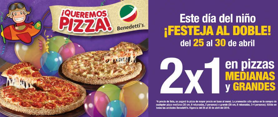 Promoción Benedettis Pizza Día del Niño