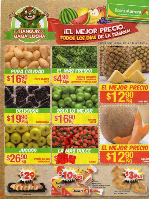Frutas y verduras Bodega Aurrerá