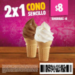 Burger King 2x1 en cono sencillo